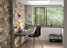 modern Study/office by Equipe Ceramicas