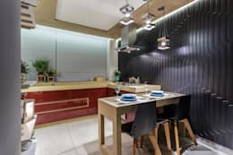 Cocinas de estilo moderno por Caio Prates Arquitetura e Design