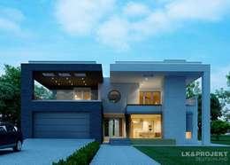 Das moderne Architektenhaus mit Flachdach: moderne Häuser von LK&Projekt GmbH