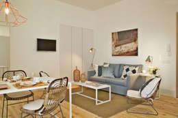 Soggiorno in stile in stile Industriale di Pureza Magalhães, Arquitectura e Design de Interiores