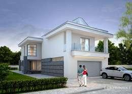 Garajes de estilo moderno por LK&Projekt GmbH
