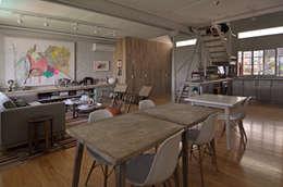 moderne Woonkamer door Matealbino arquitectura