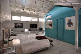Habitaciones de estilo moderno por Matealbino arquitectura