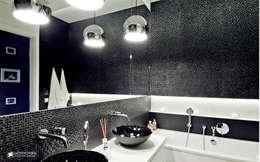 ORZECHOWY BRĄZ: styl , w kategorii Łazienka zaprojektowany przez Ludwinowska Studio Architektury