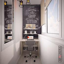 Скандинавский LOFT в 1-комнатной квартире с проектором в п. Комунарка: Tерраса в . Автор – дизайн-бюро ARTTUNDRA