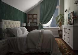 Dormitorios de estilo ecléctico por Альбина Романова