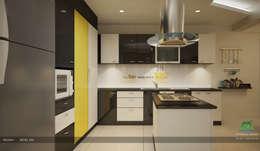 Modern Contemporary Interior Design: modern Kitchen by Premdas Krishna