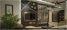 Modish Modern Contemporary...: modern Living room by Premdas Krishna