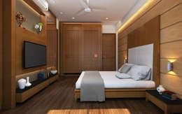 Chambre de style de style Moderne par INCEPT DESIGN SERVICES