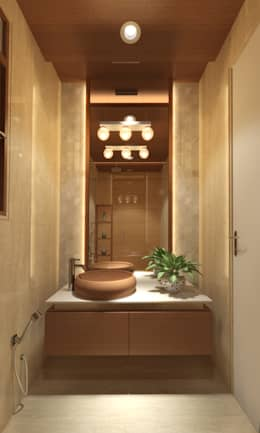 DR. BHAVESHBHAI CHUAHAN RESIDENCE: modern Bathroom by INCEPT DESIGN SERVICES