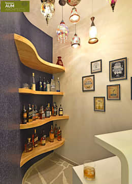 C mo construir un mini bar en casa para impresionar a tus - Botelleros de madera rusticos ...