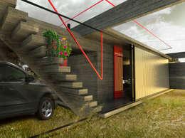 Refugio de día / Bahia Blanca / Bs. As.: Casas de estilo rústico por juan olea arquitecto