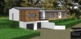 Projet de maison contemporaine atypique en bois et acier:  de style  par Concept Creation