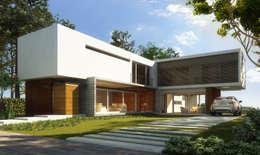Maisons de style de style Moderne par Estudio Arquitectura Agustín Duarte