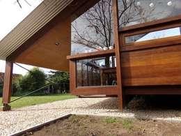 Casas de estilo rústico por juan olea arquitecto