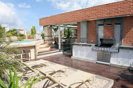 Terrasse de style  par Arq Renny Molina