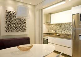 Projekty,  Jadalnia zaprojektowane przez Liliana Zenaro Interiores