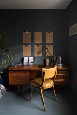 eclectic Study/office by Frank and Faber