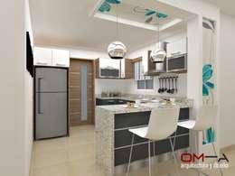 Diseño de cocina: Cocinas de estilo minimalista por om-a arquitectura y diseño