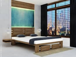 Bedroom Interiors : modern Bedroom by Preetham  Interior Designer