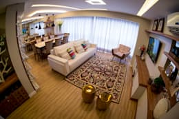 eclectic Living room by INOVA Arquitetura
