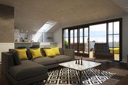 yücel partners – M&E TEKİNTAŞ HOME: iskandinav tarz tarz Oturma Odası