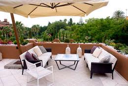 Balconies, verandas & terraces  تنفيذ Decoración Andalusí