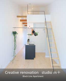 Soggiorno in stile in stile Moderno di studio m+ by masato fujii