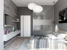 Projekty,  Sypialnia zaprojektowane przez Tatiana Zaitseva Design Studio
