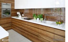 LA CASA BLANCA : styl , w kategorii Kuchnia zaprojektowany przez Ludwinowska Studio Architektury