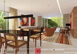 modern Living room by STUDIO LUIZ VENEZIANO
