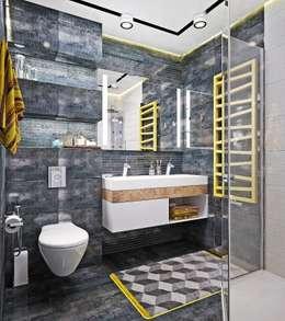 Baños de estilo industrial por Студия дизайна Interior Design IDEAS