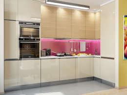 Квартира в ярких тонах: Кухни в . Автор – Tatiana Zaitseva Design Studio