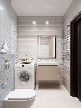 Квартира в ярких тонах: Ванные комнаты в . Автор – Tatiana Zaitseva Design Studio