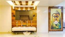 2BHK RESIDENCE: modern Bathroom by HK ARCHITECTS