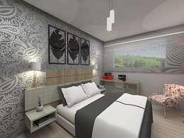 Habitaciones de estilo ecléctico por Plano A Studio