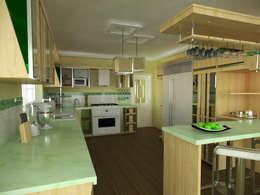 Cocina, vivienda unifamiliar: Cocinas de estilo moderno por Rbritointeriorismo