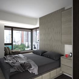 The Long Beach | Hong Kong: modern Bedroom by Nelson W Design