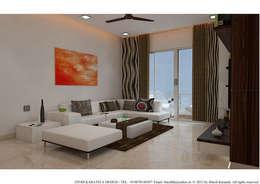 PIROZE PALACE SAMPLE FLAT: modern Living room by HK ARCHITECTS