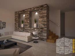 Pasillos y recibidores de estilo  por HHRG ARQUITECTOS