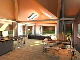 Projekty,  Salon zaprojektowane przez K-MÄLEON Haus GmbH