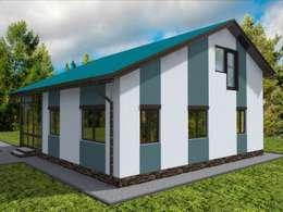 modern Houses by Студия архитектуры и дизайна Вояджи Дарьи