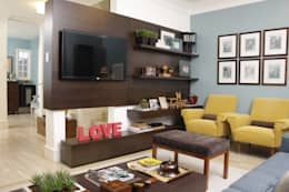 mediterranean Media room by Fernanda Moreira - DESIGN DE INTERIORES