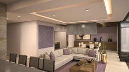 غرفة المعيشة تنفيذ Nova Arquitectura