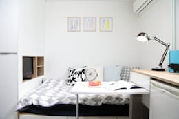 Projekty,  Sypialnia zaprojektowane przez OUA 오유에이