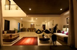 Hazel Penthouse: minimalistic Living room by Kamat & Rozario Architecture