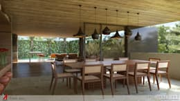 minimalistic Dining room by STUDIO LUIZ VENEZIANO