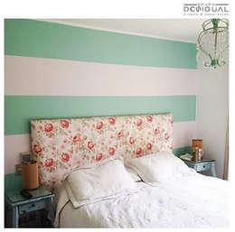 Mural Pieza Principal: Dormitorios de estilo moderno por Estudio Desigual