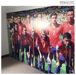Mural Closet Pieza Niño: Walk in closet de estilo  por Estudio Desigual