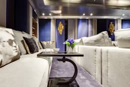 modern Media room by Mille Couleurs London
